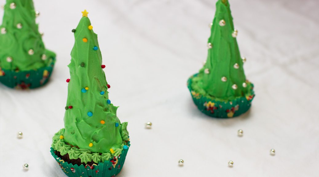 3 christbaumcupcakes