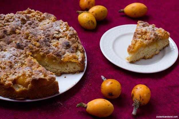 Mispel-Streusel-Kuchen