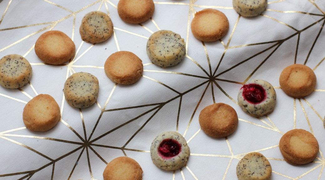 Sandgebäckvariationen - Vanille, Mohn, Cranberry