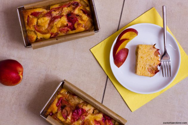Obstkuchen mit Polenta