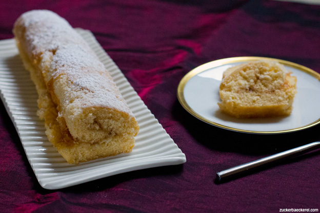 Biskuitrouladen mit Aprikosenfüllung und Kardamom