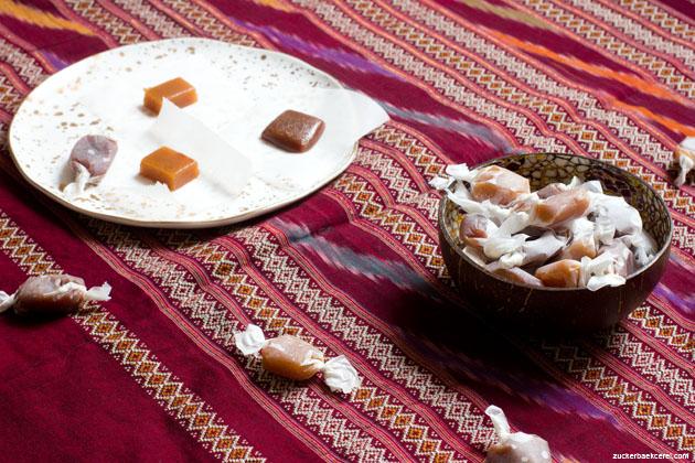 Trauben- und Birnenkaramell