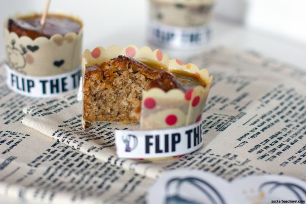 Walnuss-Muffins mit Apfelkaramell