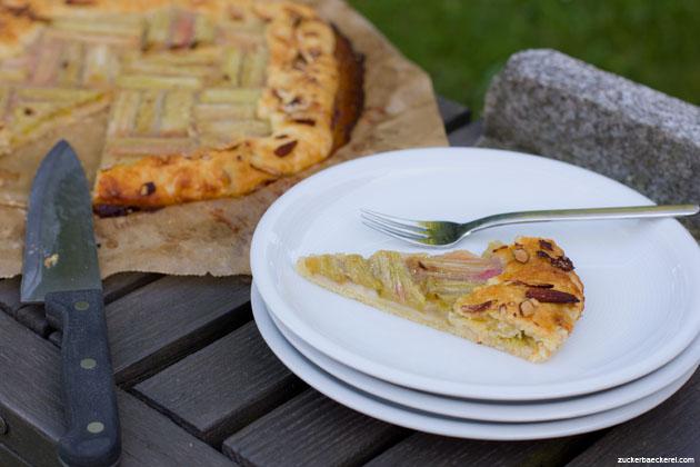 vegane Rhabarber-Tarte