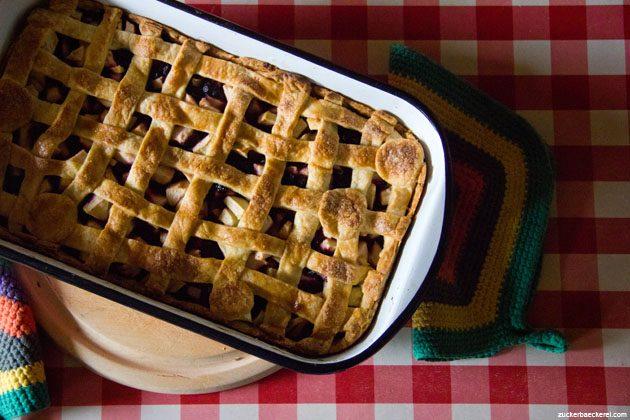 Heidelbeer-Apfel-Birnen-Pie