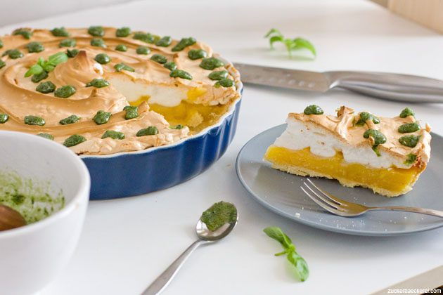 zitronen-basilikum-tarte