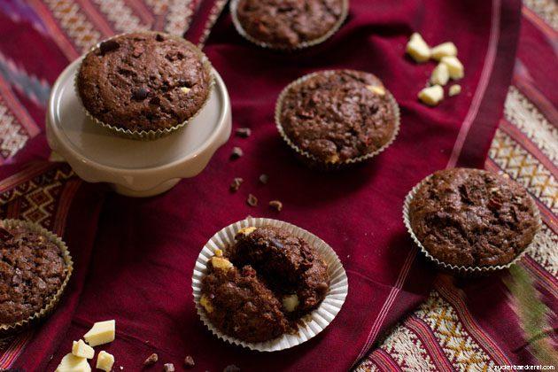 Aufgebrochener Muffin