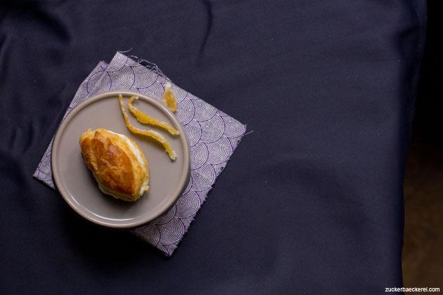 Mini Eclairs mit Zitronen-Mascarpone-Creme