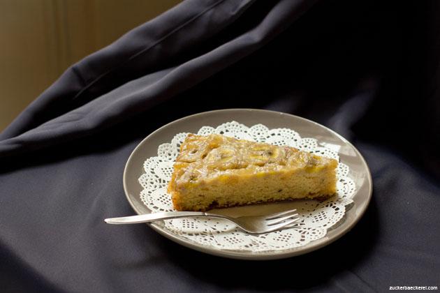 Gestürzter Bananen-Karamell-Kuchen