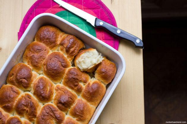 pull-apart-butter-buns vogelperspektive
