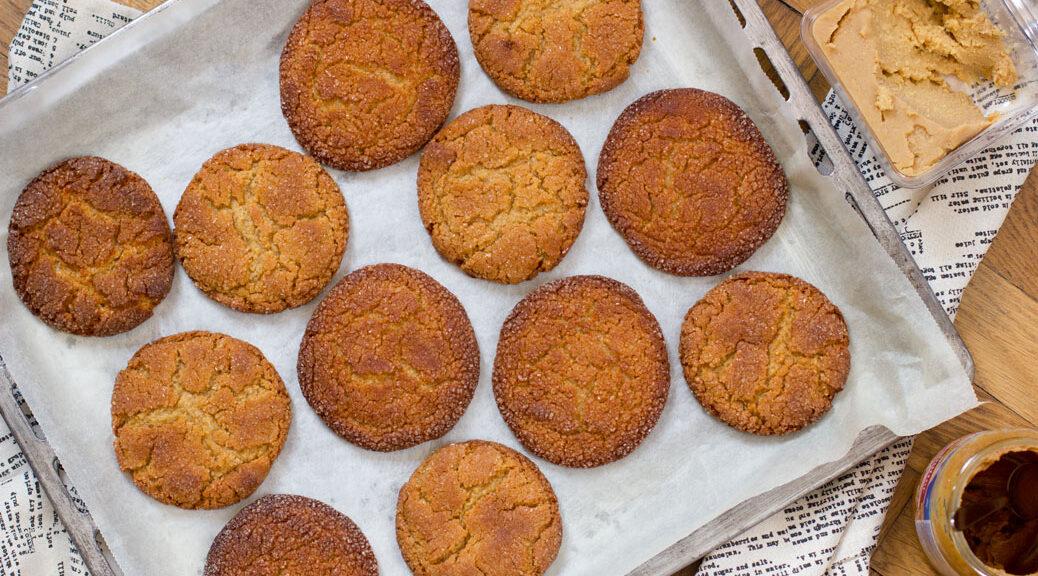 erdnuss-butter-miso-cookies vogelperspektive