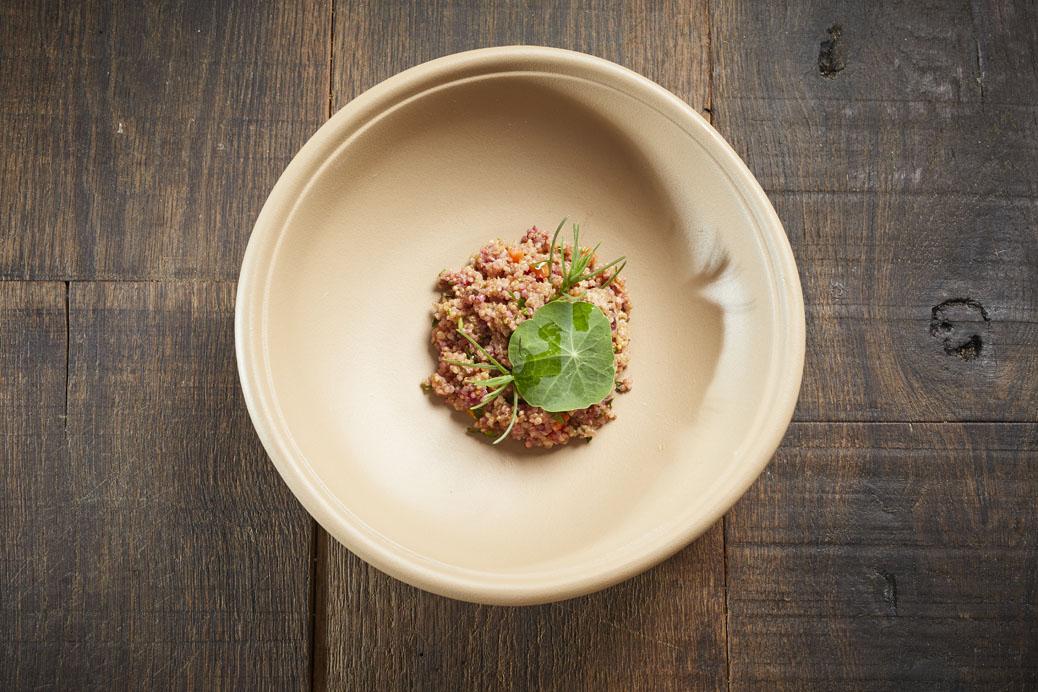 Quinoa mit fermentierten Ethel-Karotten ©Koch.Campus – Helge Kirchberger