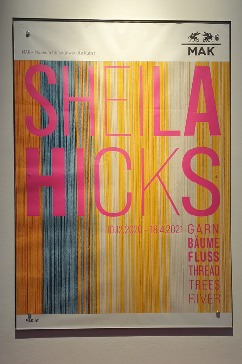 """Ausstellungsplakat """"Sheila Hicks"""" MAK"""