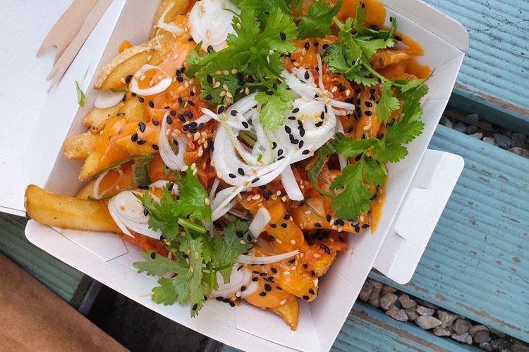 Kimchi Fries vom Tian Bistro