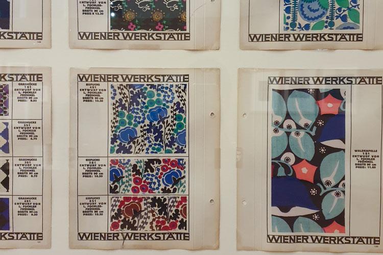 wiener werkstätte stoffmusterkarten