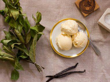 Lorbeer-Vanille-Eis