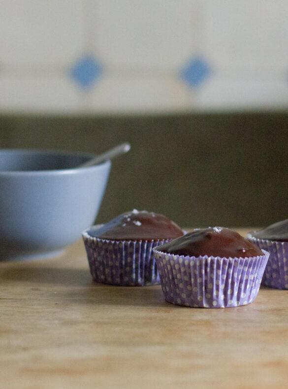 Mandel-Schoko-Cupcakes